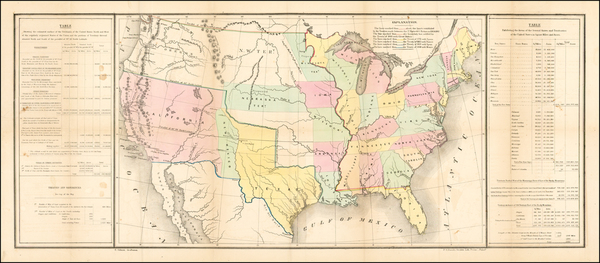 United States Map By E. Gilman