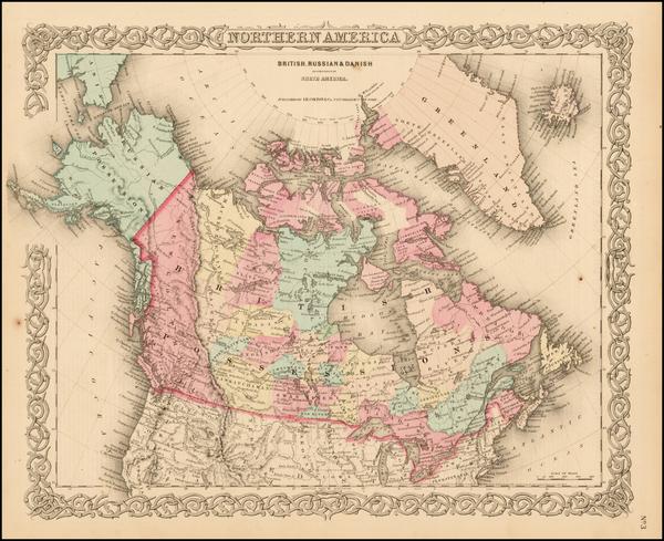 4-Alaska and Canada Map By Joseph Hutchins Colton