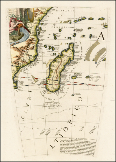 21-East Africa and African Islands, including Madagascar Map By Vincenzo Maria Coronelli