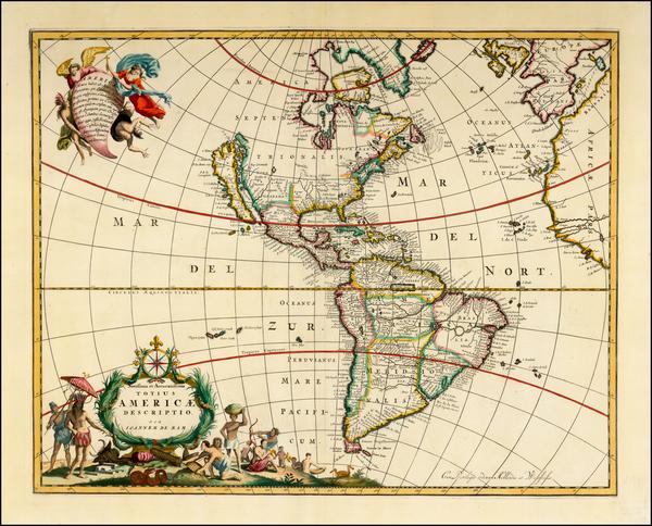 83-Western Hemisphere, South America and America Map By Johannes De Ram