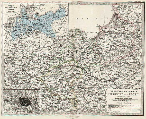 84-Europe, Germany and Austria Map By Adolf Stieler