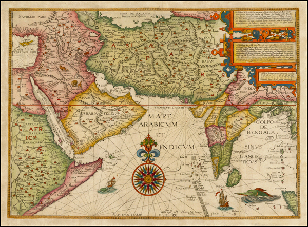 17-Indian Ocean, India, Central Asia & Caucasus, Middle East and East Africa Map By Jan Huygen