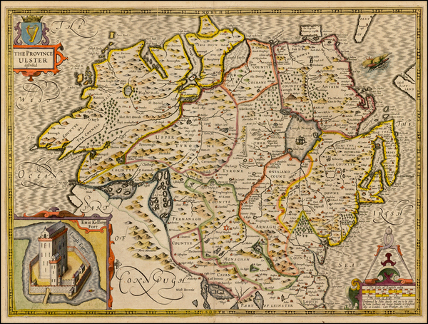 45-Ireland Map By John Speed