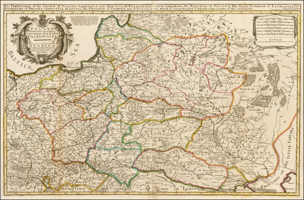 49-Poland, Ukraine and Baltic Countries Map By John Bowles