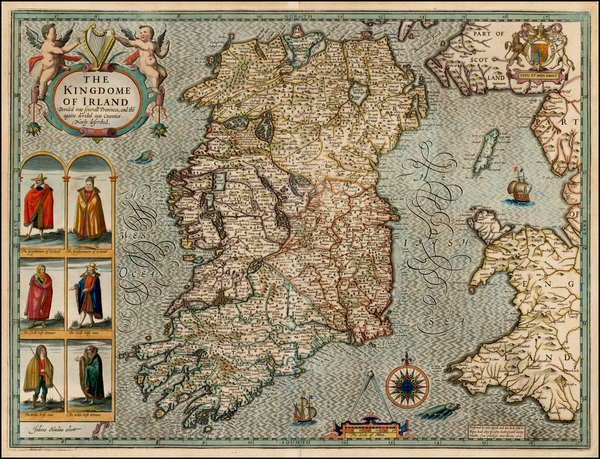 100-Ireland Map By John Speed