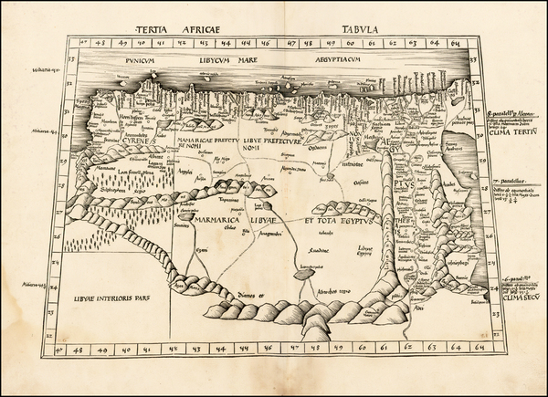 48-Egypt and North Africa Map By Martin Waldseemüller