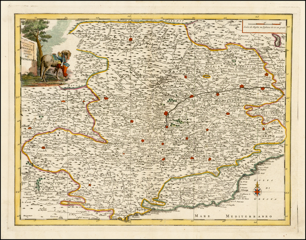 93-Italy and Northern Italy Map By Giambattista Albrizzi
