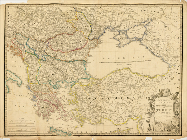 52-Russia, Ukraine, Balkans, Greece, Turkey and Turkey & Asia Minor Map By James Wyld