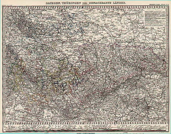 98-Europe and Germany Map By Adolf Stieler