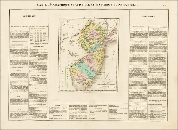 Mid-Atlantic and New Jersey Map By Jean Alexandre Buchon