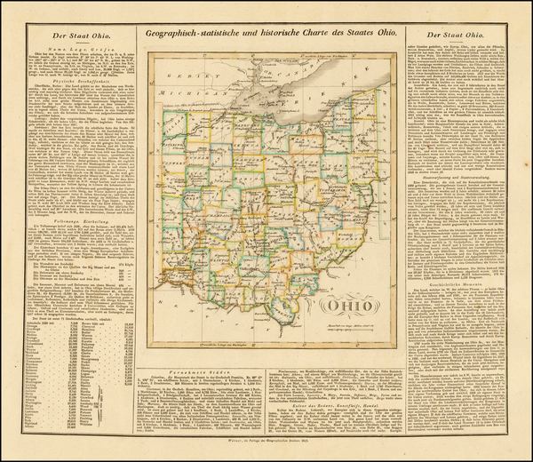 42-Midwest and Ohio Map By Carl Ferdinand Weiland