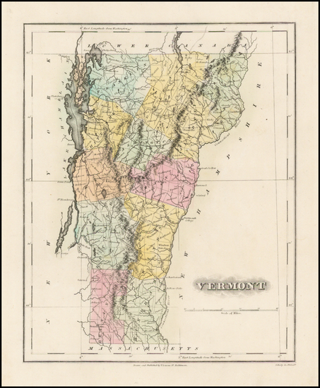 14-New England and Vermont Map By Fielding Lucas Jr.