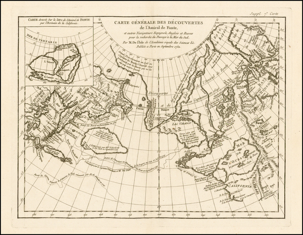 47-Alaska, Canada and Russia in Asia Map By Denis Diderot / Didier Robert de Vaugondy