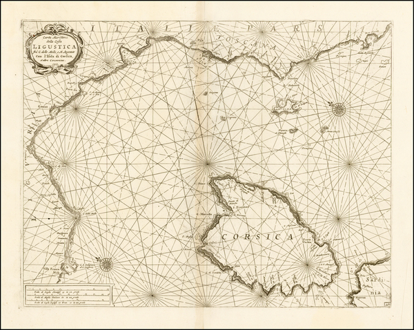 77-Italy, Balearic Islands and Corsica Map By Vincenzo Maria Coronelli