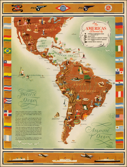 34-South America and America Map By Kenneth W. Thompson