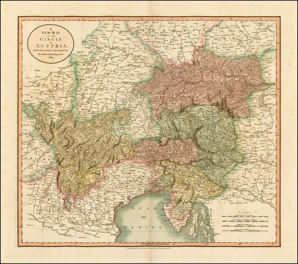 23-Austria and Balkans Map By John Cary