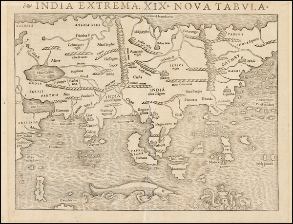 4-Asia Map By Sebastian Munster
