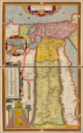 4-Middle East, Egypt and North Africa Map By Abraham Ortelius