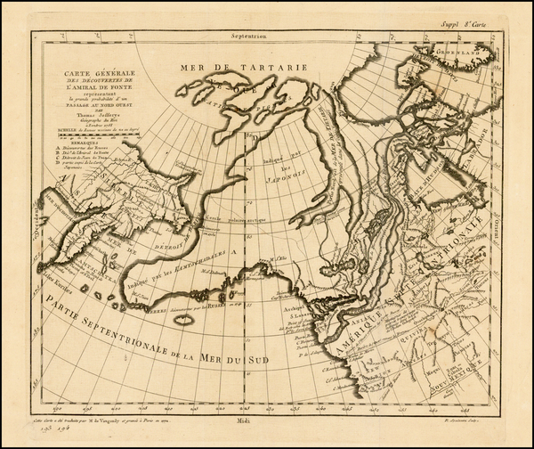 57-Polar Maps, Alaska, Canada and Russia in Asia Map By Denis Diderot / Gilles Robert de Vaugondy