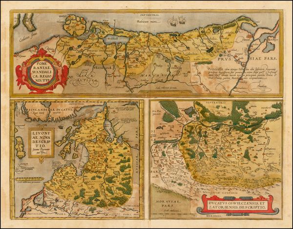2-Germany, Poland, Romania and Baltic Countries Map By Abraham Ortelius