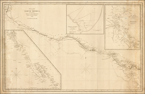 54-Mexico, Baja California, Central America and California Map By E & GW Blunt