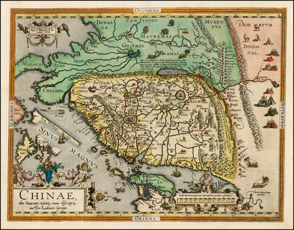 67-China, Japan, Southeast Asia and Philippines Map By Abraham Ortelius
