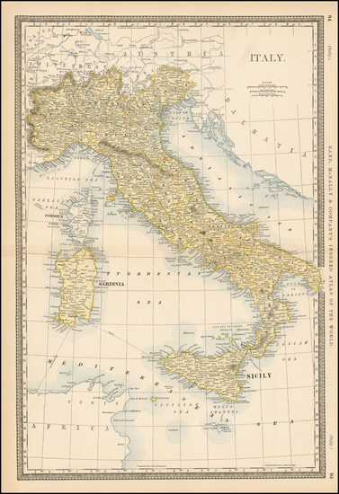 2-Italy Map By Rand McNally & Company