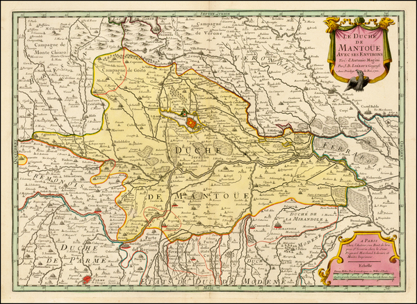 Italy and Northern Italy Map By J.B. Liebaux