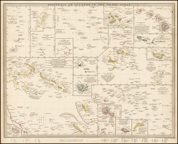 41-Hawaii, Pacific, Oceania, Hawaii and Other Pacific Islands Map By SDUK