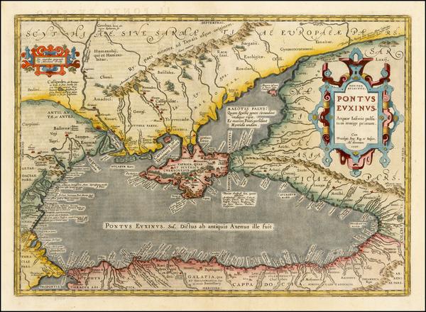 95-Ukraine, Romania, Turkey and Turkey & Asia Minor Map By Abraham Ortelius