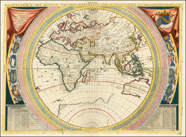 22-Eastern Hemisphere, Indian Ocean, Asia, Asia, Africa, Africa, Pacific and Australia Map By Vinc