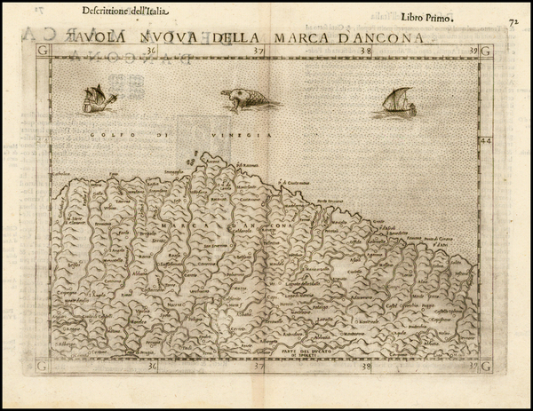 63-Italy Map By Girolamo Ruscelli