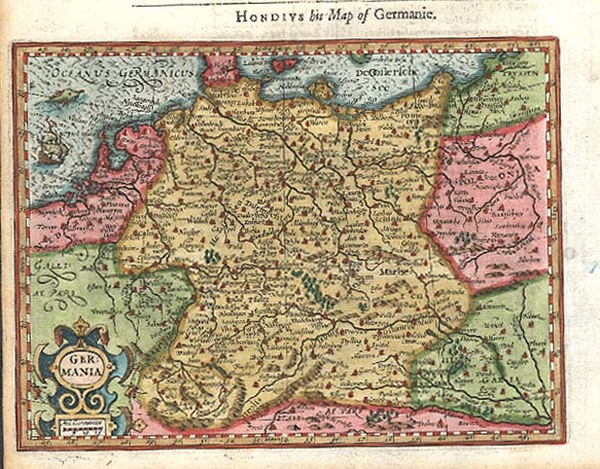 64-Europe, Netherlands, Germany, Poland and Baltic Countries Map By Jodocus Hondius / Samuel Purch
