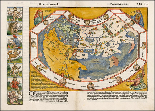 16-World and World Map By Hartmann Schedel