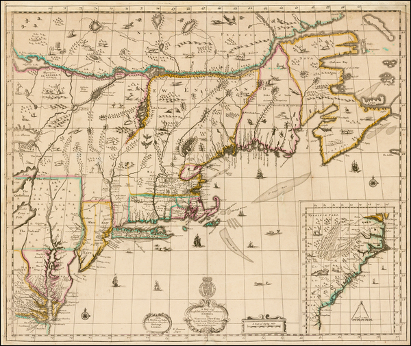 44-United States, New England, Mid-Atlantic and Southeast Map By Robert Morden