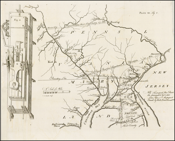 50-Mid-Atlantic and Pennsylvania Map By James Smither / American Philosophical Society