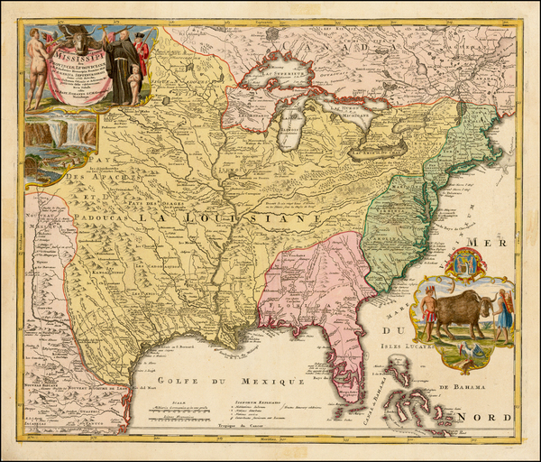 17-United States, South, Southeast, Texas, Midwest, Plains and Southwest Map By Johann Baptist Hom