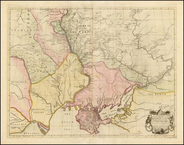 50-Russia, Ukraine and Romania Map By John Senex