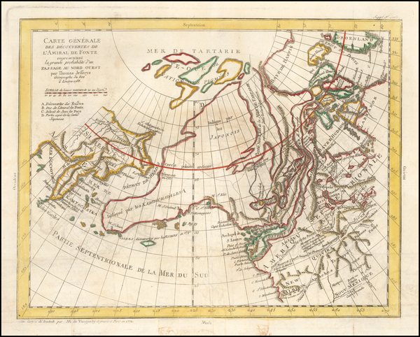 67-Polar Maps, Alaska, Canada and Russia in Asia Map By Denis Diderot / Gilles Robert de Vaugondy