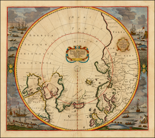 62-Northern Hemisphere, Polar Maps, Canada, Russia and Scandinavia Map By Frederick De Wit