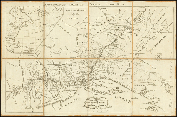 93-New England, Mid-Atlantic and American Revolution Map By Anonymous