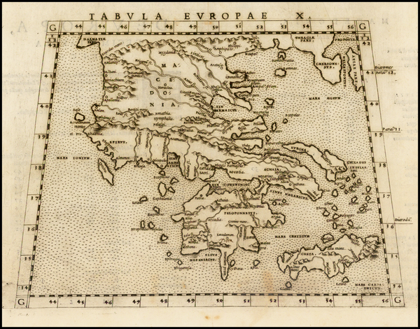 100-Greece and Balearic Islands Map By Girolamo Ruscelli