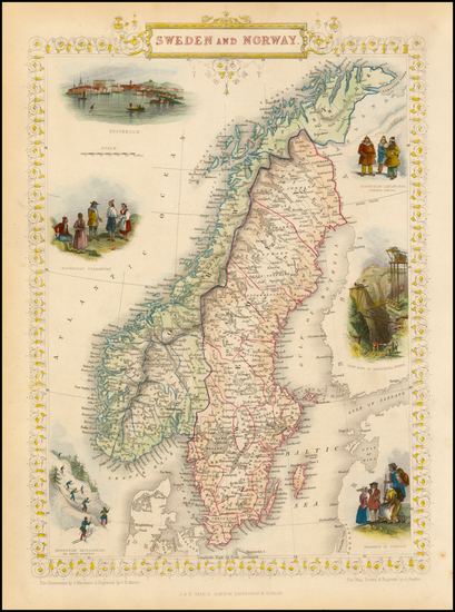 76-Scandinavia Map By John Tallis