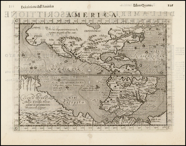 60-Western Hemisphere, South America, Australia and America Map By Giovanni Antonio Magini