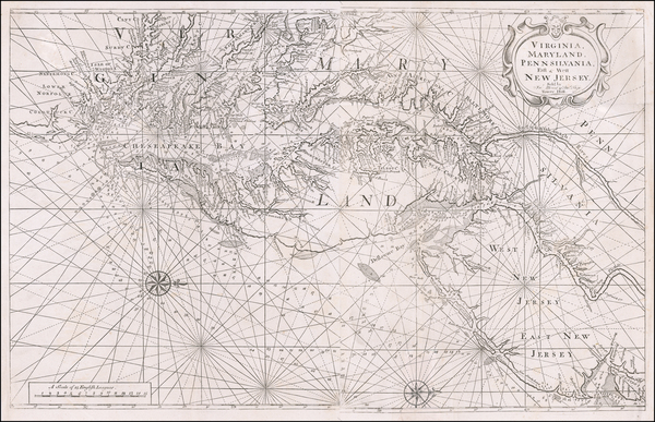 55-Mid-Atlantic, Southeast and Virginia Map By William Mount  &  Thomas Page
