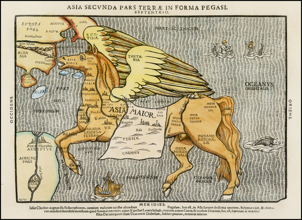 34-Asia, Asia, China, Southeast Asia, Curiosities and Comic & Anthropomorphic Map By Heinrich