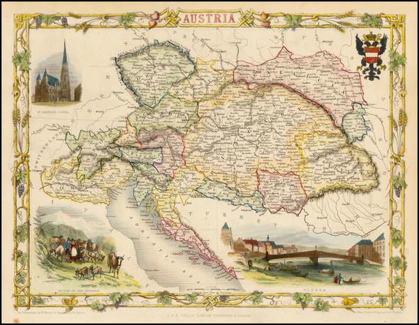 95-Austria Map By John Tallis