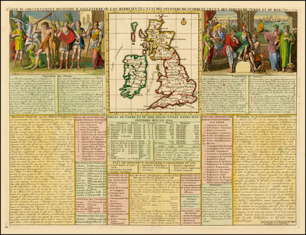 British Isles Map By Henri Chatelain