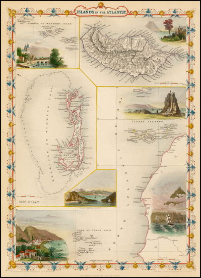 60-Caribbean, African Islands, including Madagascar and Pacific Map By John Tallis