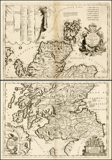Scotland Map By Vincenzo Maria Coronelli